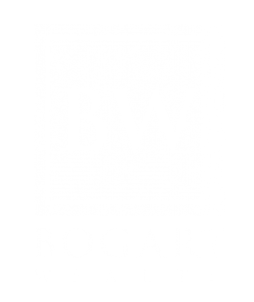 White Bogart wealth logo