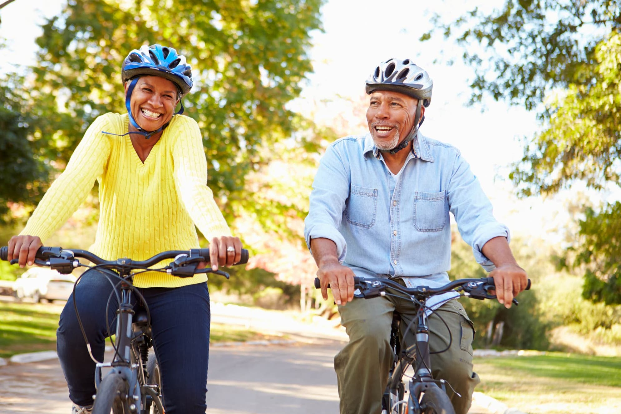 Retirees on a bike ride