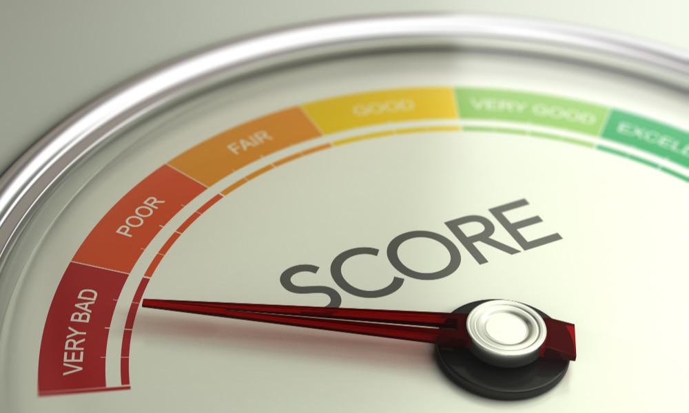 gauge measuring credit score drop