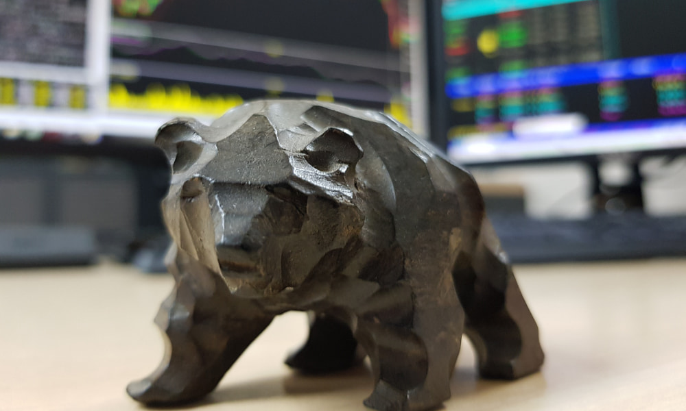 Bear statue symbolizing Bear Market Investing Strategies