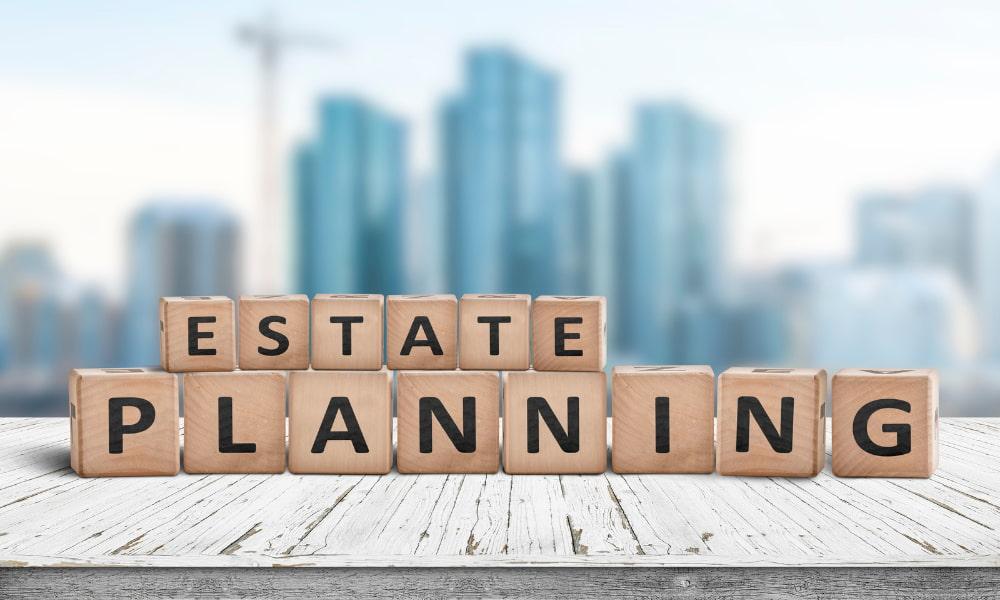 blocks that say estate planning