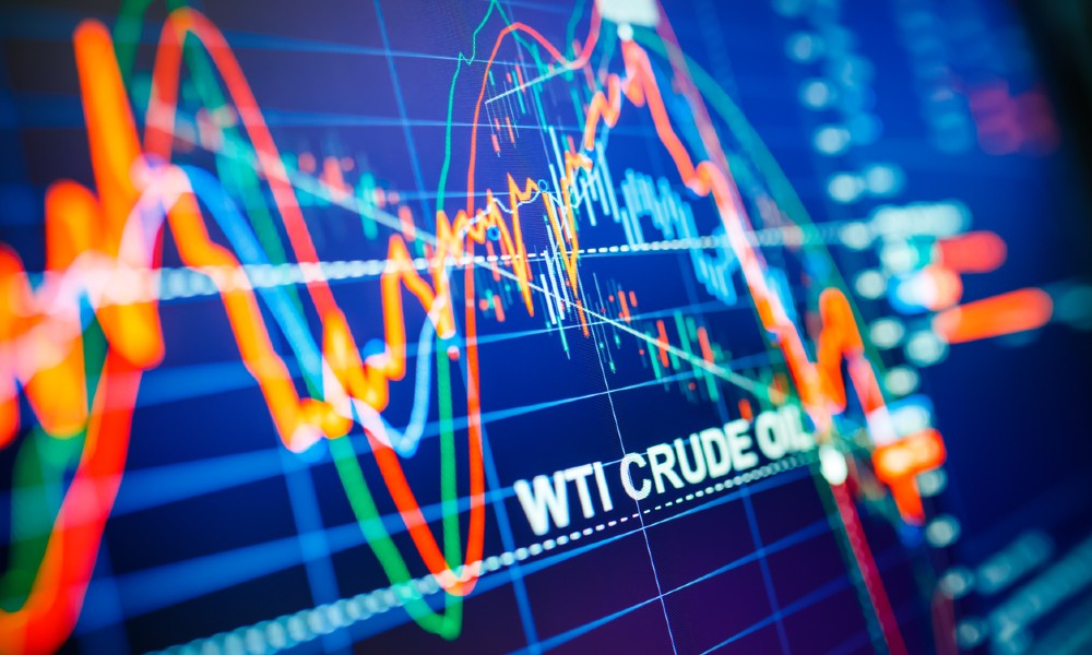 chart shows trend lines for oil investments