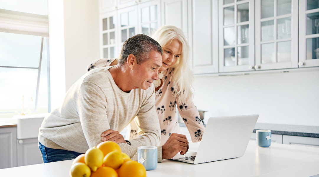 couple taking a look at their 401k plan