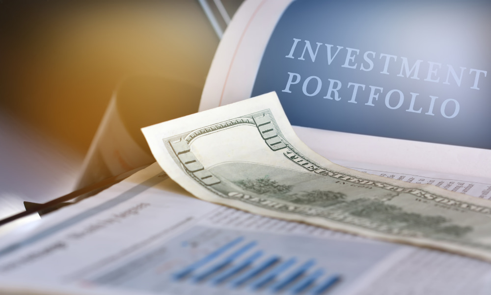 Close up of an investment portfolio