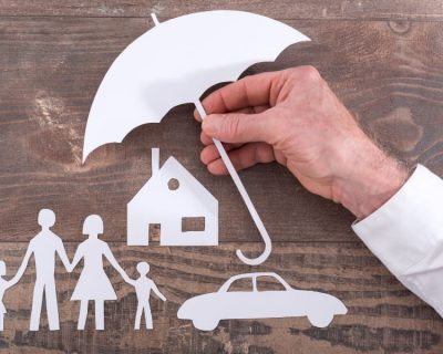 Family being protected by a life insurance payout.