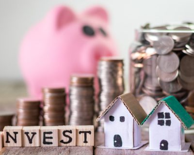 savings ready to go into one of the available investment account types along with properties and an invest sign
